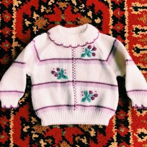 Vintage girls sweater 12 months